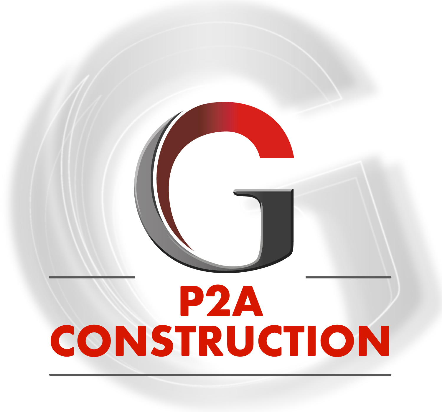 P2A Construction Logo
